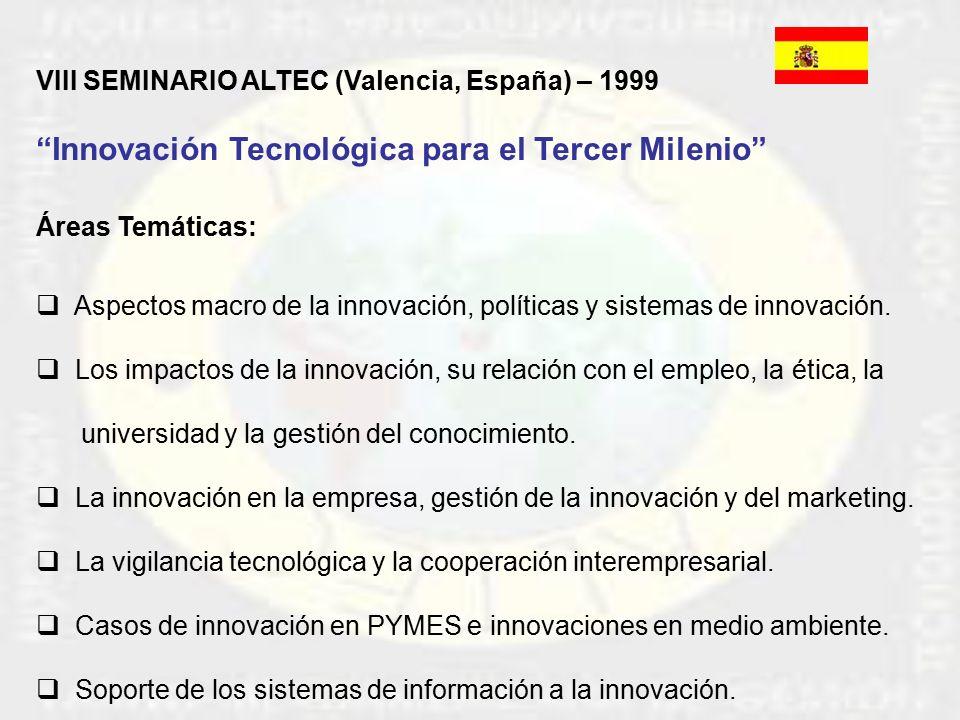 VIII Seminario Bianual Latinoamericano de Gestión Tecnológica, ALTEC
