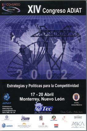 XIV Congreso Asociación Mexicana de Directivos de la Investigación Aplicada y el Desarrollo Tecnológico (ADIAT)