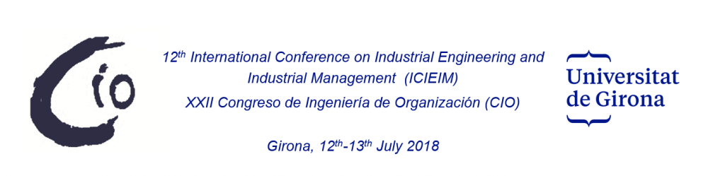 12th International Conference on Industrial Engineering and Industrial Management (CIO)