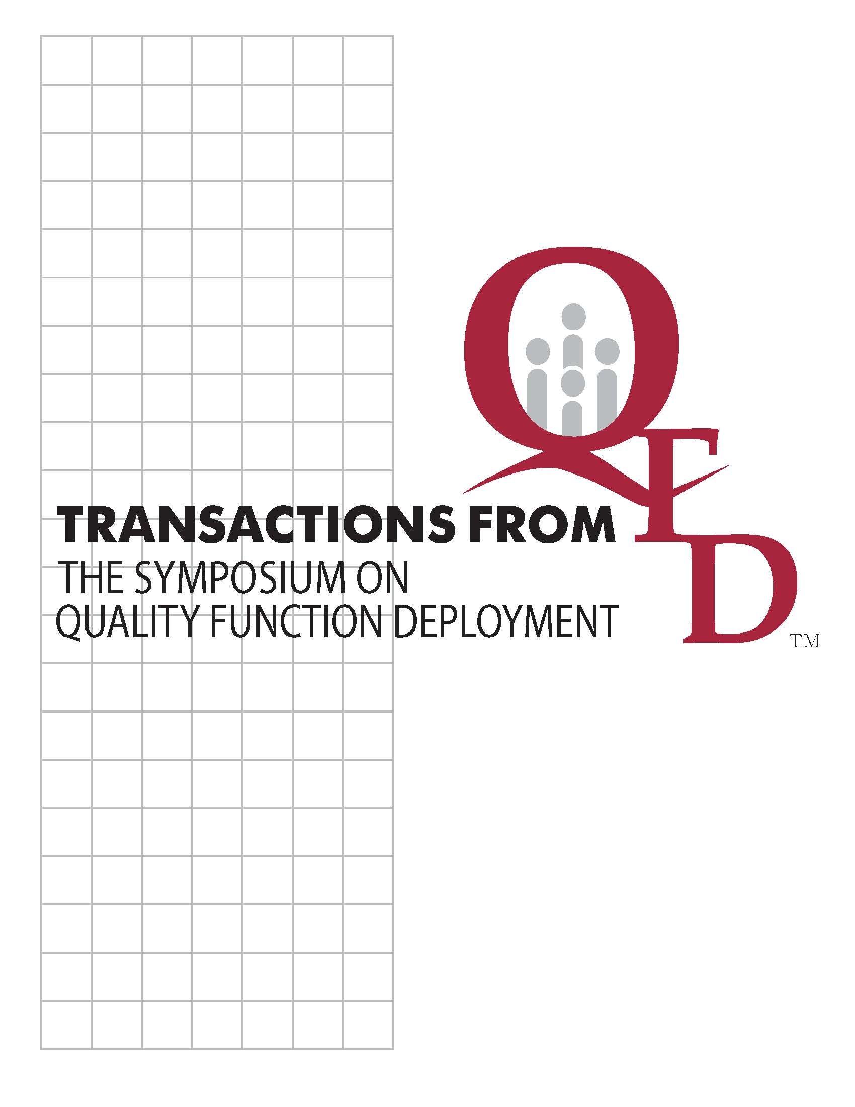 10 th International Symposium on QFD.